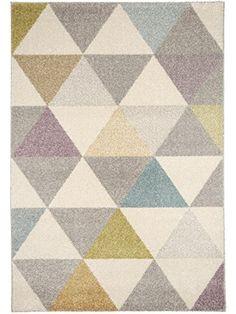 "benuta Pastel Geomet Modern Rug Multicolour 120x170 cm (3ft11"" x 5ft7"") - Quality label GuT - 100% Polypropylene - Chevron - Machine woven - Living room: Amazon.co.uk: Kitchen & Home"