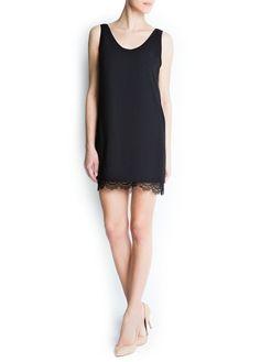 MANGO - CLOTHING - Dresses - Guipure hem dress