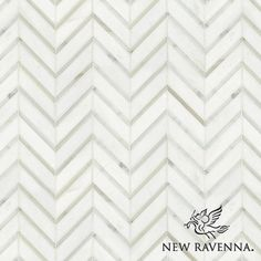 Raj, a natural stone mosaic shown in Calacatta Tia and polished Thassos, is part of the Silk Road Collection by Sara Baldwin for New Ravenna Mosaics.