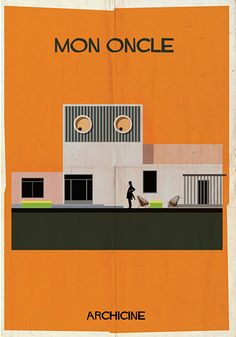 'ARCHICINE' - series of illustrations by Federico Babina