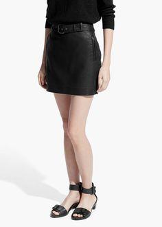 Belt biker skirt