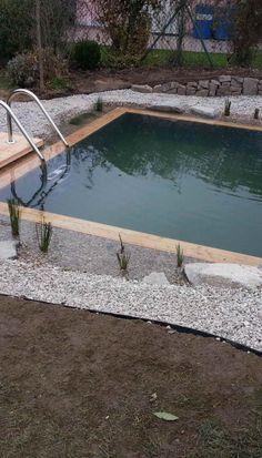 Koupací jezírko | Stavba jezírek Garden Pool, Pool Ideas, Backyard Landscaping, Land Scape, Pond, My House, Swimming Pools, Patio, Nature
