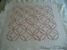 Addicted To Quilts: Double Wedding Ring Embroidery
