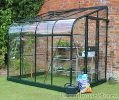 Halls Silverline Green 6x8 Lean to Greenhouse New  http://www.greenhousestores.co.uk/Halls-Silverline-Green-6x8-Lean-To-Greenhouse-3mm-Toughened-Glazing.htm