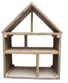 Steigerhout poppenhuis via huis & grietje