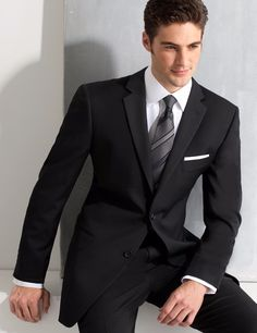 Black Tie Tuxedo, Prom Tuxedo, Slim Fit Tuxedo, Slim Fit Suits, Tuxedo Suit, Black Suits, Black Tuxedos, Gents Fashion, Mens Fashion Suits