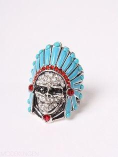 Native American skull ring❤love love love it!