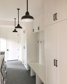 """Learn even more relevant information on """"laundry room storage diy cabinets"""". Look at our web site. Mudroom Laundry Room, Laundry Room Organization, Laundry Room Design, Porch To Mudroom, Laundry Area, Porch Lighting, Barn Lighting, Laundry Room Lighting, Farmhouse Chic"""