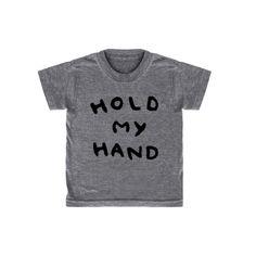 'Hold My Hand' T-Shirt (Heather Grey) www.kidandkind.con I love this shirt ❤
