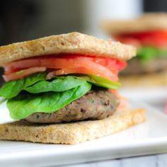 Umami-Rich Turkey and Mushroom Burger- anti inflammatory