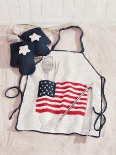 BBQ Apron | Yarn | Free Knitting Patterns | Crochet Patterns | Yarnspirations