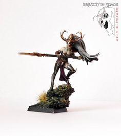Warhammer FB | Dark Elves | Dark Elf Witch Conversion #warhammer #ageofsigmar…