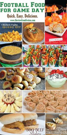Football Food Ideas for Game Day #recipes #GameDay #SuperBowl