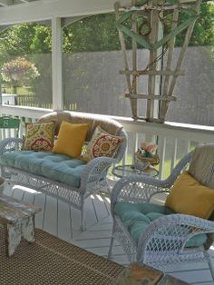 Welcome to the Back Porch - I would love to have a stand-alone screened porch in my back yard!