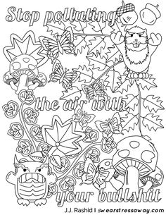 bullshit coloring page - fuck this shit adult coloring page gift wall art funny