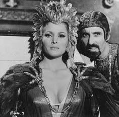 Ursula Andress & Christopher Lee in She directed by Robert Day, 1965