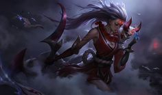"league-of-desu: ""Blood Moon Diana Official Splash Art """