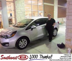 #HappyAnniversary to Stephan Garmon on your 2013 #Kia #Rio from Anthony Macaluso at Southwest KIA Rockwall!