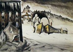 CHARLES BURCHFIELD February Dusk (1918)