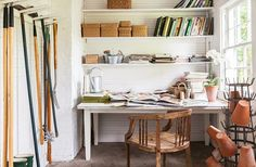 | Carolyn Roehm Habitually Chic  |  Gardening  |  Garage Shed Organization