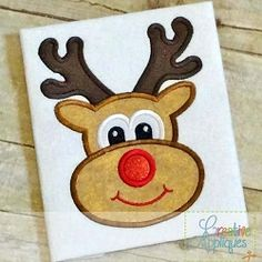 Reindeer Applique - 5 Sizes! | What's New | Machine Embroidery Designs | SWAKembroidery.com Creative Appliques