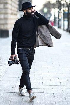 black x black -- casual menswear style + fashion