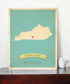 Kentucky Customizable Map Print- My heart belongs to good ol' Bracken County!