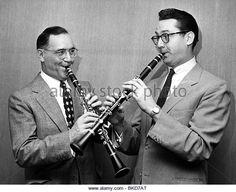 Goodman, Benny, 30.5.1909 - 13.6.1986, American musician (jazz), half length, with actor Steve Allan, 1950s,