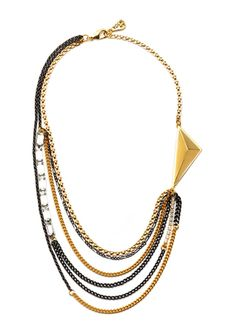 On ideeli: YOCHI DESIGNS Layered Links Necklace