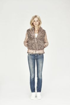 Curly Toscana Shearling Jacket via The SHEER. Click on the image to see more!