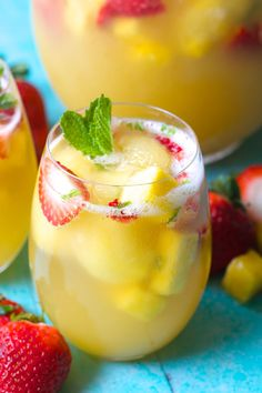Try this Sparkling Pineapple Strawberry Punch for your next party! Sweet pineapple juice is paired with bubbly ginger ale, fresh fruit and mint for a refreshing non alcoholic punch! Spring is in full swing at the farm! We have enjoyed our windows being wide open, the longer days and of course we've already broken out...