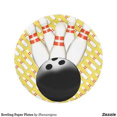 Bowling Paper Plates  sc 1 st  Pinterest & Basketball Paper Plates | Cool Paper Plates and Paper Cups for all ...
