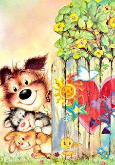 My Wishlist - Ekaterina Chistyakova - Picasa Web Albums Cute Animal Illustration, Graphic Illustration, Dream Illustration, Vintage Christmas Wrapping Paper, Art File, Illustrations And Posters, Whimsical Art, Nursery Art, Animals