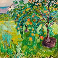 "terminusantequem: ""Edvard Munch (Norwegian, 1863-1944), Apple Tree by the Studio, 1920-28. Oil on canvas, 110 x 110 cm """