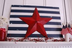 Super cute and easy to make for 4th of July, but cute enough to use all year round!