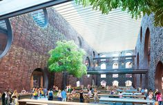 Brooklyn Bridge Park Unveils 10 Designs to Turn Dilapidated Warehouses into Greenery-Filled Destinations