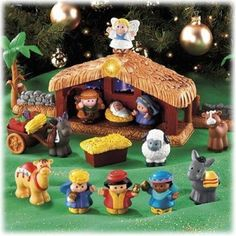 An adorable nativity set that small children can play with.