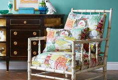 love this chair for the carriage house - Aesthetic Oiseau: Robert Allen Chinoiserie High Low