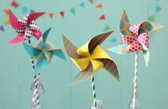 Windräder, DIY, Basteln mit Kindern, Kindergeburtstag, produziert für tambini.de