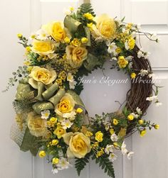 A personal favorite from my Etsy shop https://www.etsy.com/listing/292394513/mothers-day-gift-yellow-spring-wreath