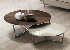 Designer Giuseppe Bavuso Harpa Coffee table with Chrome-plated or painted steel base. Top available in: white acrylic stone, marble, oak, ebony or lacquered MDF. Cool Coffee Tables, Coffee Table Design, Round Coffee Table, Modern Coffee Tables, Table Furniture, Furniture Design, Living Furniture, Coffee Table Inspiration, Bar Table Sets