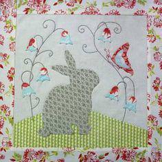 bunny block would make a great hoopla ;). Colors are perfect,too - red, aqua, lime green