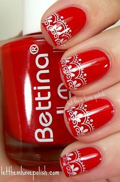 These are pretty -- I am not a fan (AT ALL) of all the 3-D nail weirdness going on out there, but I like pretty, SMOOTH, embellishments.  ;)