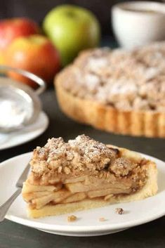 This Gluten-Free Apple Tart can also be made with all-purpose flour. Either way it's completely delicious. Gluten Free Treats, Gluten Free Cakes, Gluten Free Baking, Gluten Free Desserts, Gluten Free Recipes, Ketogenic Desserts, Tart Recipes, Apple Recipes, Baking Recipes