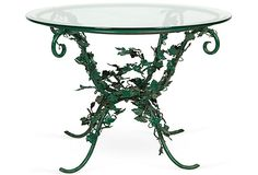 Iron Ivy Table w/ Glass Top