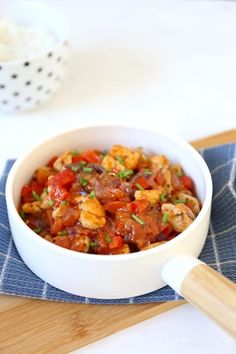 Stew with chicken and pepper - nhẹ - Recepten Healthy Slow Cooker, Healthy Crockpot Recipes, Easy Cooking, Cooking Recipes, Ras El Hanout, Weird Food, Food Inspiration, Love Food, Food Porn