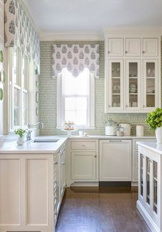 Interesting back splash and shaped cornices.