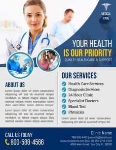 health flyer templates, health advertisements, doctor flyers, small business flyers, health professional clinic service flyers, health and wellness flyers. Us Health, Health And Wellness, Health Care, Health Professional, Business Flyers, Care About You, Medical Care, Flyer Template, Lorem Ipsum