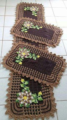 Tapetes de crochê nunca saem da moda e cada vez mais fazem parte da decoração