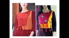 Beautiful Overlay Kurta with Tassels Cutting & Stitching|Complete Tutori...